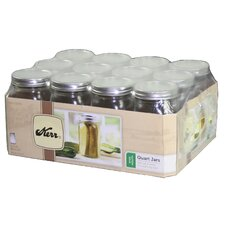 1 qt Wide Mouth Canning Jar (Set of 12)