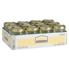 Wide Mouth Canning Jar (Set of 12)