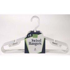 Swivel Hook Suit/Coordinate Hanger (Set of 5)