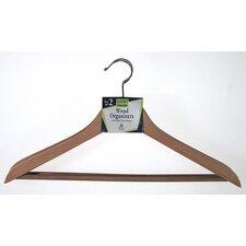 Contoured Wooden Suit Hanger (Set of 2)
