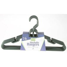Heavy Duty Tubular Hanger with Attachable Hook (Set of 6)