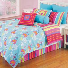 Funky Flower 3 Piece Twin Comforter Set