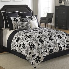 Ebony and Ivory Comforter Set