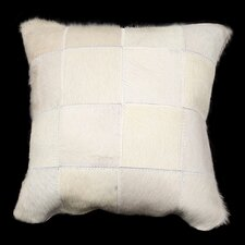 Safari Large Patchwork Genuine Leather Pillow