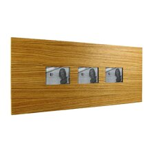 <strong>Boom Design</strong> Three Slot Wood Picture Frame