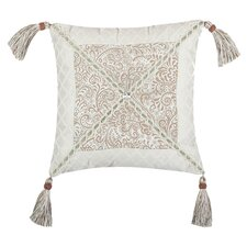 Swanson Pillow with Velvet Braid,Tassel and Button