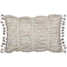 Swanson Pillow with Tassel Trim and Velvet Braid