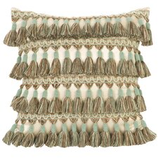 Fortune Synthetic Pillow with Tassel Fringe