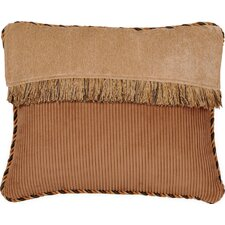 <strong>Jennifer Taylor</strong> Woodland Synthetic Pillow with Cord and Brush Fringe