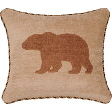 Woodland Synthetic Pillow with Cord and Applique