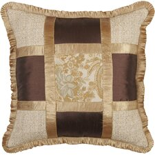 St. Lucia Synthetic Pillow with Pleated Fabric Trim