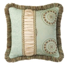 Fortune Synthetic Pillow with Braid and Brush Fringe