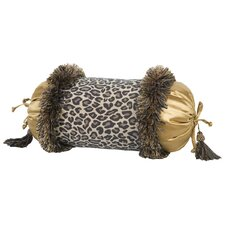 Espresso Synthetic Pillow with Brush Fringe and Tassel