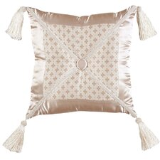 Lumina Synthetic Pillow with Braid, Tassel and Self Button