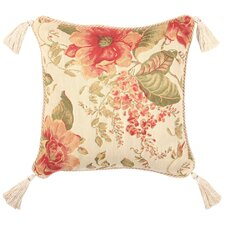Brianza Synthetic Pillow with Tassel and Cord, Reversible