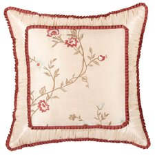 Cornelia Shirred Synthetic Pillow with Brush Fringe