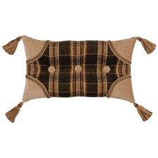 Woodland Synthetic Pillow with Self Buttons, Braid and Tassels