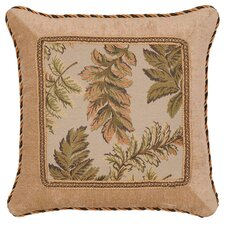 Woodland Synthetic Square Pillow with Braid and Cord
