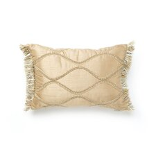 Savannah Synthetic Pillow with Brush Fringe and Braid