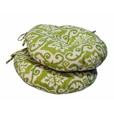 Bistro Chair Round Outdoor Cushion (Set of 2)
