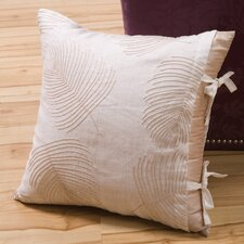 Organic Decorative Pillow with Bow