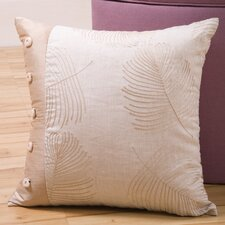 Organic Decorative Pillow with Shell Buttons
