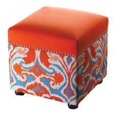 Ikat Storage Cube Ottoman
