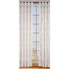 Organic Leaf Linen Tab Top Curtain Single Panel