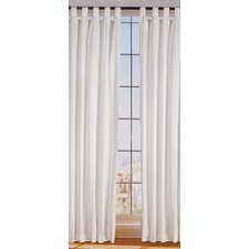 Organic Stripes Linen Tab Top Curtain Single Panel