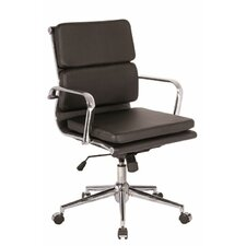 Modrest Edge Modern Low-Back Leather Office Chair