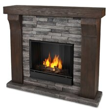 <strong>Real Flame</strong> Avondale Cast Mantel Gel Fuel Fireplace