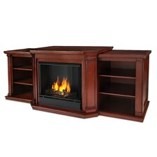 "Valmont 76"" TV Stand with Gel Fireplace"