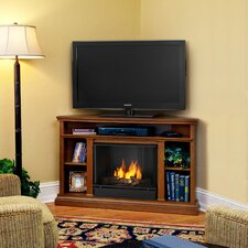 "<strong>Real Flame</strong> Churchill 51"" Ventless TV Stand with Gel Fuel Fireplace"