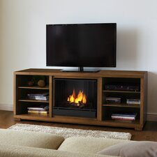 "<strong>Real Flame</strong> Marco 69"" TV Stand with Gel Fuel Fireplace"