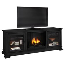 "Hudson 68"" Ventless TV Stand with Electric or Gel Fuel Fireplace"