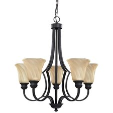 <strong>Canarm</strong> Allyson 5 Light Chandelier