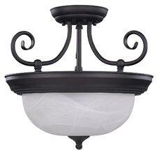 <strong>Canarm</strong> Julianna 2 Light Semi-Flush Mount