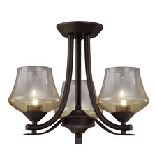 Cooper 3 Light Semi-flush Mount