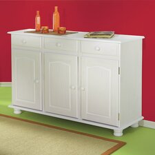 Livio 3 Doors Pine Sideboard in White