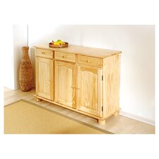 Abaco Solid Pine Sideboard  in Natural