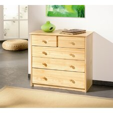 York Chest of Five Drawer Configuration in Natural