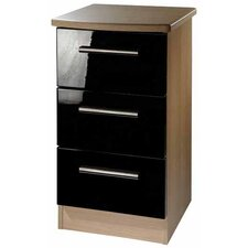 Knightsbridge 3 Drawer Bedside Table