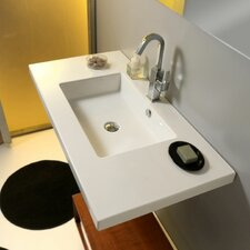 Mars Ceramic Bathroom Sink with Overflow