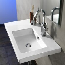 <strong>Ceramica Tecla by Nameeks</strong> Condal Ceramic Bathroom Sink with Overflow