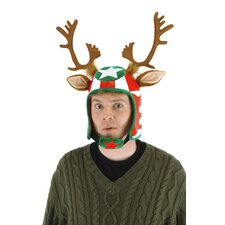 Racing Reindeer Helmet Hat