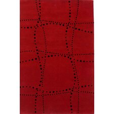 Sway Wave Red Rug
