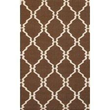 Flat Weave Brown Rug