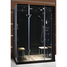 <strong>Steam Planet Corp</strong> Personal Pivot Door Glass Steam Shower