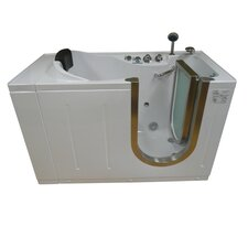"59"" x 30"" Walk-In Tub with Heated Water and Air Jets System"