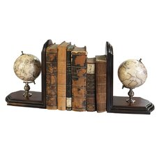 <strong>Authentic Models</strong> Globe Book Ends (Set of 2)